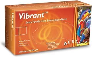 Aurelia Vibrant Latex Glove, Powder Free, 9.4