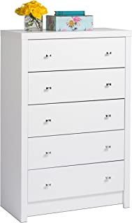 Prepac White Calla 5-Drawer Chest, King,