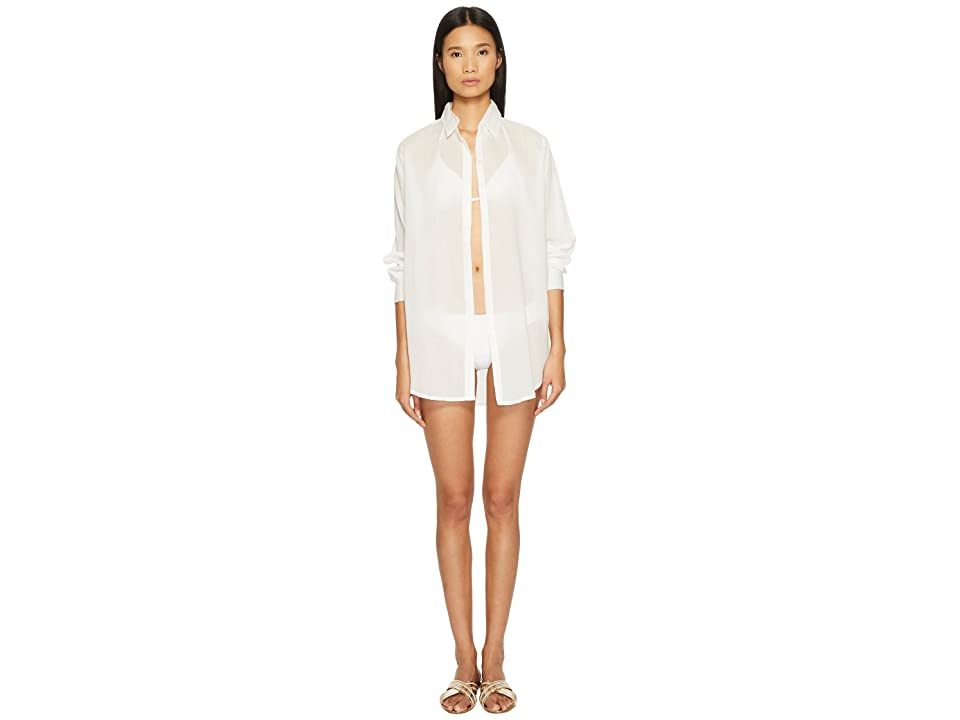 Letarte Tie Front Cover-Up (White) Women