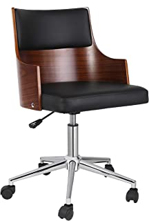 Porthos Home Office Chair With PVC upholstery Adjustable Height360-degree Swivel And Chrome Steel Legs - Various Colors, Black, One Size