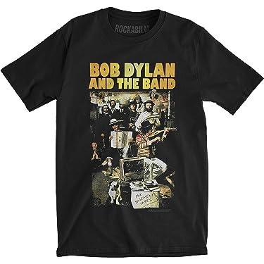 Bob Dylan Men's Basement Tapes Slim Fit T-Shirt Black