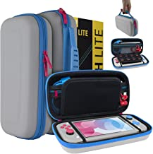 Orzly Case for Nintendo Switch Lite - Portable Travel Carry Case with Storage for Switch Lite Games and Accessories [Grey/...