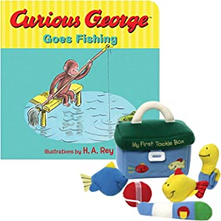 My First Tackle Box Playset Plush and Board Book Curious George Goes Fishing Set