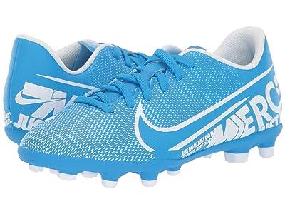 Nike Kids Jr Vapor 13 Club GF/MG Soccer (Toddler/Little Kid/Big Kid) (Blue Hero/White/Obsidian) Kids Shoes