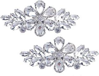 Clips Santfe con coloridos diamantes de imitación para decoración de zapatos de fiesta o boda