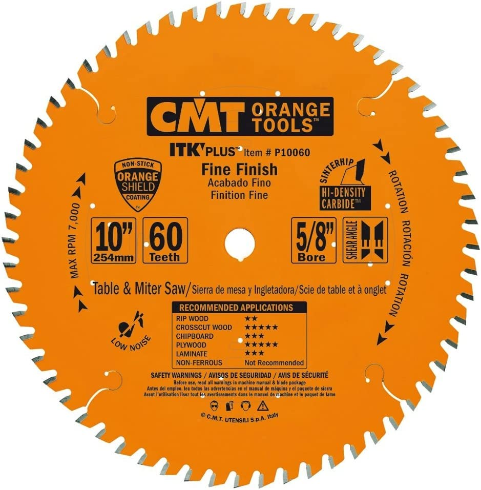 CMT P10060 ITK Plus Finish Saw Blade Teeth 60 Max 80% OFF x ATB+ 10° Online limited product 10