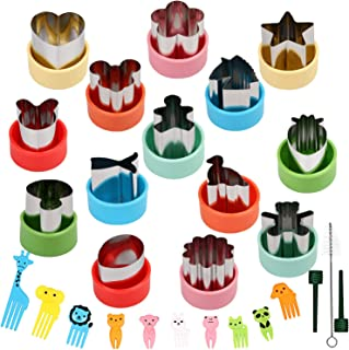 BakingWorld 14 Pcs Vegetable Cutter Shapes Set,1.5 inch Size Mini Pie,Fruit and Cookie Pastry Stamps Mold with 10 Pcs Food...