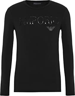 Emporio Armani Camiseta para hombre 111653 CC716 00020, cuello redondo manga larga