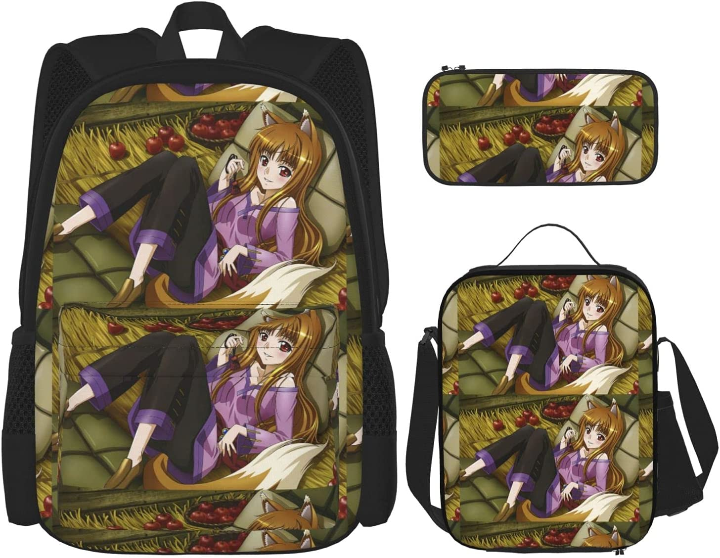 Spice and Wolf Chibi Holo Anime Set Backpack 3 Ranking integrated 1st place OFFicial shop + Piece