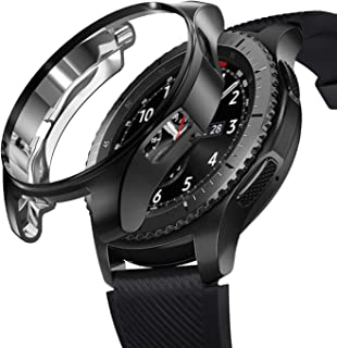KPYJA Case for Samsung Gear S3 Frontier 46mm, Shock-Proof and Shatter-Resistant Protective TPU Cover for Samsung Gear S3 Frontier SM-R760/Galaxy Watch SM-R800(Black)