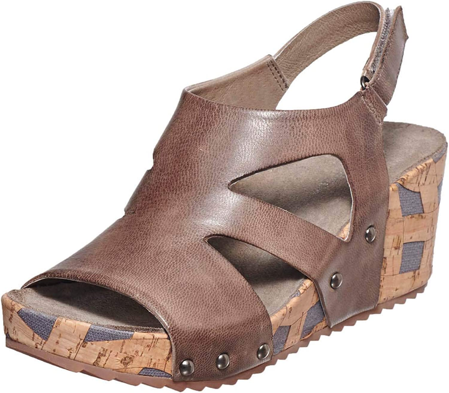 Antelope Women's 453 Leather Double Cuts Wedge