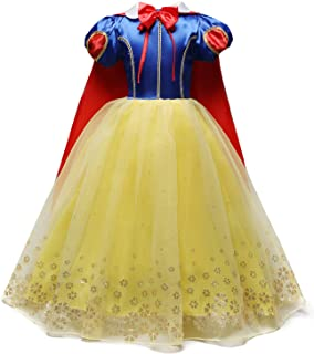 Sponsored Ad - Nileafes Girl Princess Dress Off Shoulder Layered Costume Kids Birthday Party Cosplay Clothes