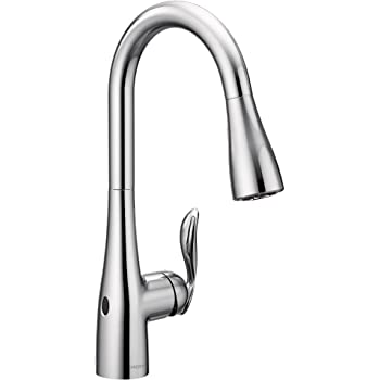 Moen 7594EWC Arbor Motionsense Wave Sensor Touchless One Handle Pulldown Kitchen Faucet Featuring Power Clean, Chrome