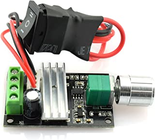 DZS Elec DC 6V-28V 3A 80W Motor Speed Controller Adjustable Reversible Control Switch PWM Speed Voltage Regulator Module 6...