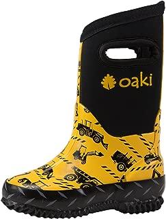 OAKI Kid's Neoprene Rain Boots, Snow Boots, Muck Boots