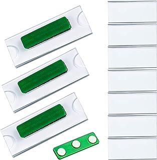 10pcs Badges Porte Nom Porte Badge Support d'affichage en Acrylique Transparent et Étiquette Imprimable,Étiquette de Nom ...