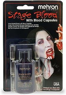 Mehron Stage Blood - Bright Arterial (nepbloed met 6 eetbare capsules)