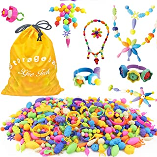 Edycur 500 Pcs Arty Snap Pop Beads Set, Creative DIY Jewelry Kit for Kids Toddlers Girls Handmade Necklace Earrings Bracelets Rings, Idea Chistmas Gifts Toys for 4-12 Year Old Girls
