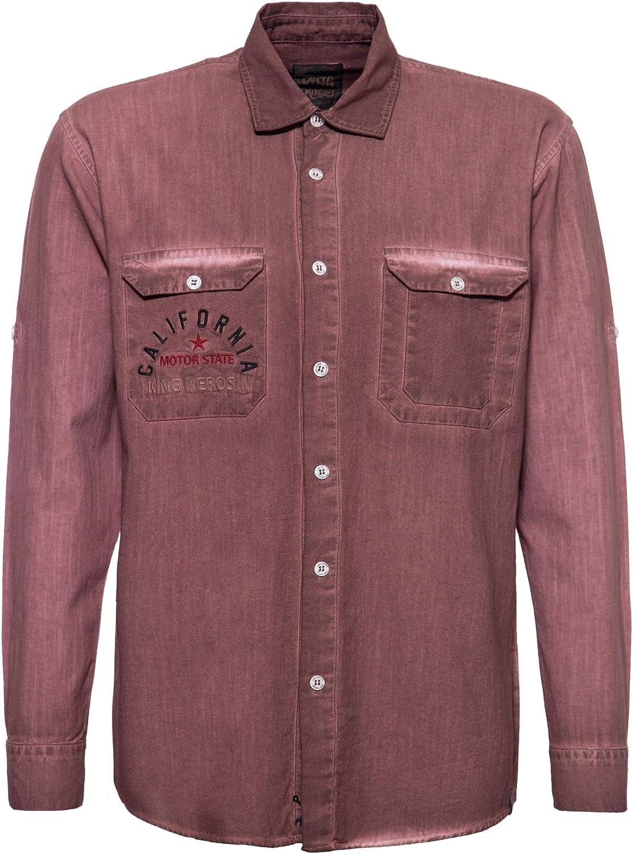 King Kerosin California Bear Camisa para Hombre: Amazon.es ...