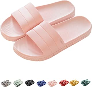 Women's Men's Shower Slide Sandals Lightweight Unisex Bathroom Slippers Non-Slip Beach & Pool Water Shoes