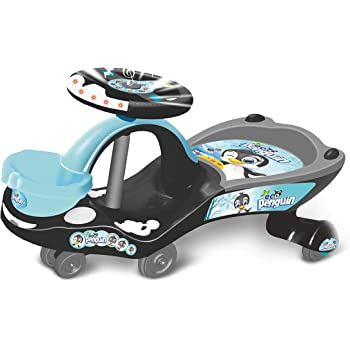 Toyzone Eco Penguin Kids Magic Car/Swing Car Ride On -Multicolour, for Age 3 Years+