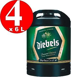 4 x Diebels Alt Perfect Draft barril 6 litros de 4,9% vol.