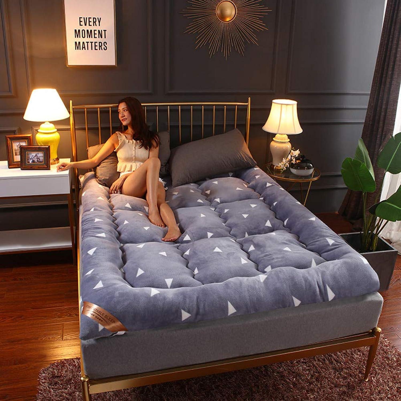 Bedroom Mattress,Flannel Mattress,Student Thickening Futon,Anti-mite for Hotel Apartment Sleeping pad-C 90x200cm(35x79inch)