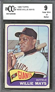1965 topps #250 WILLIE MAYS san francisco giants BGS BCCG 9 Graded Card