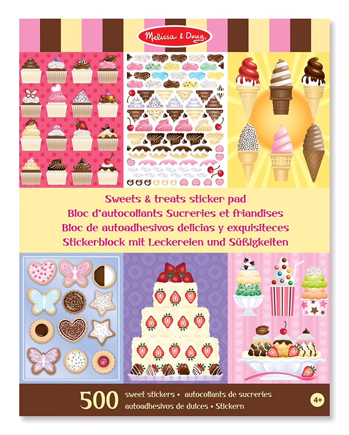 Melissa & Doug Sweets and Treats Sticker Pad - 500 Stickers, 16 Backgrounds umvi5187956