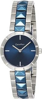 Calvin Klein Womens Quartz Watch, Analog Display and Stainless Steel Strap K5T33T4N