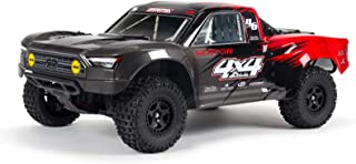 ARRMA 1/10 SENTON 4X4 V3 MEGA 550 Brushed Short Course RC Truck RTR (Transmitter, Receiver, NiMH Battery and Charger Included), Red, ARA4203V3T1