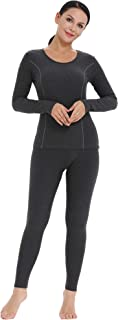 Amorbella Women's Ultra Soft Thermal Underwear Set Cotton Long Johns Base Layer Fleece Lined S-XXL