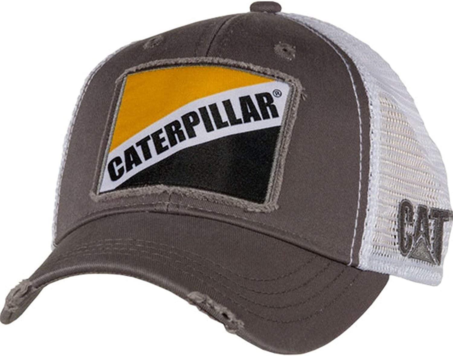 Caterpillar CAT Long-awaited Equipment Worn Looking Snapback Whit Manufacturer regenerated product Bro Vintage