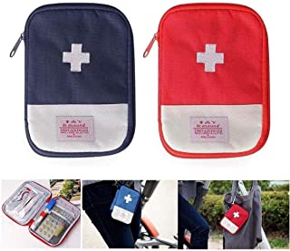2 Packs First Aid Bag,Empty First Aid Pouch,Mini Portable Medical Bag for Outdoor Camping Hiking Travel Emergency,Multifun...