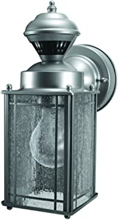 Heath Zenith HZ-4133-SV Shaker Cove Mission Style 150-Degree Motion Sensing Decorative Security Light, Silver