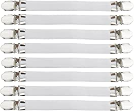 Acoser Bed Sheet Clip,Sheet Straps,Slipcover Holders,Keep Your Bed Sheets, Sofa Slipcover,Tablecloth,Ironing Board Cover In Position,21-38cm,8 Pieces(White)