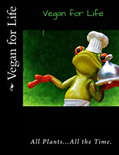 """Vegan for Life: Composition/Notebook, Vegan, Plant-Based, Whole Foods, Vegan Grocery or Recipe List, 120 pages, 7.44"""" x 9...."""