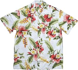 (スタイルド バイ オリジナルズ)Styled by Originals ハイビスカス 花柄 半袖 レーヨン100% アロハシャツ