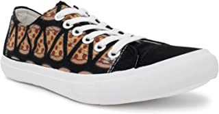 Ann Arbor T-shirt Co. Women's Pizza Sneakers Cute Fun Pepperoni Food Foodie Trainer Tennis Shoe