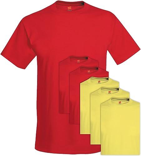 5280 Comfortsoft Hommes 6 Pack Crew Neck Tee Medium 3 Rouge profond + 3 Jaunes