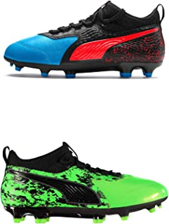 Official Brand Puma One 19.3 Firm Ground Football Boots Juniors Soccer Cleats Shoes