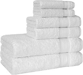 Cotton Castle Premium Original Turkish Cotton 6 Pieces Towels, 2 Bath 2 Hand 2 Washclothes for Bathroom Kitchen Sauna and ...