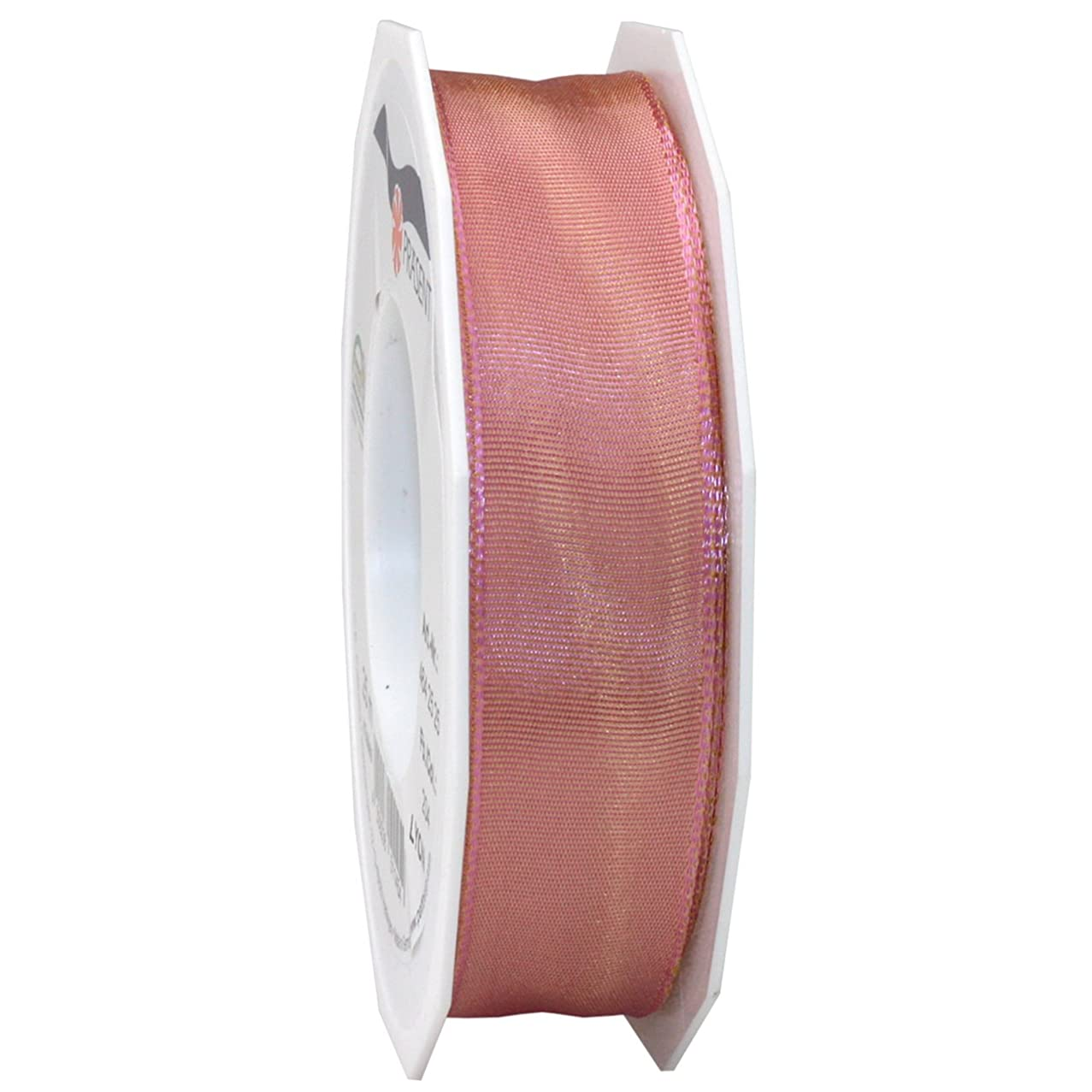 Morex Ribbon French Wired Lyon Ribbon, 1-Inch by 27-Yard Spool, Mauve