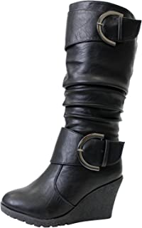 TOP Moda Pure 65 Womens Slouch Wedge Boots