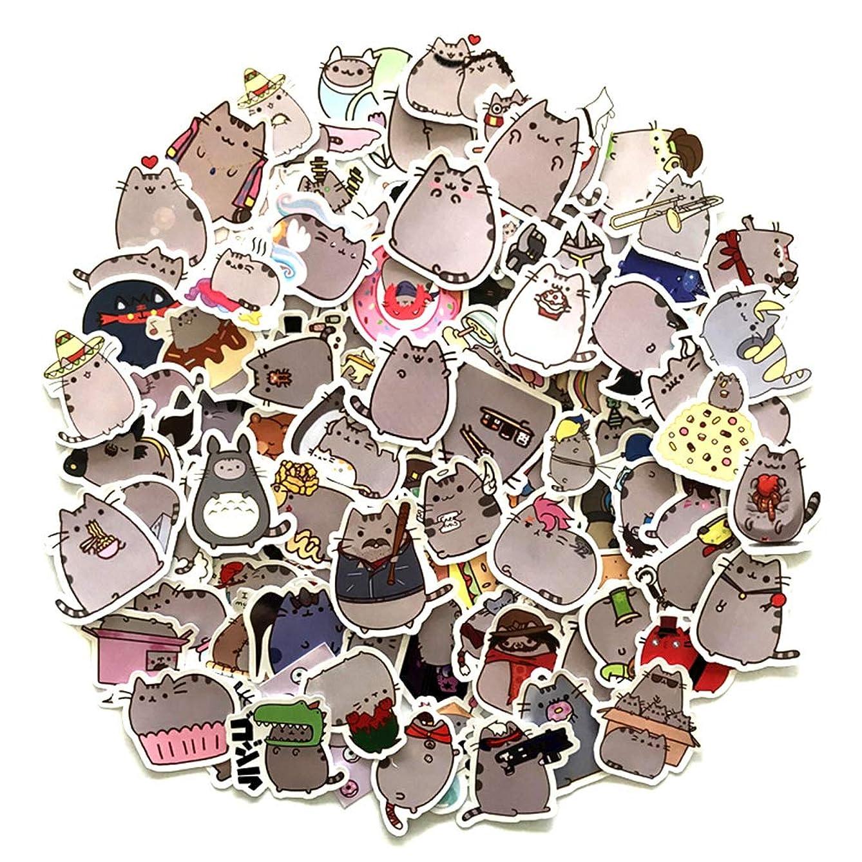 JONERISE 100Pcs Cartoon Cat Stickers for Snowboard Laptop Luggage Car Fridge Car Styling Vinyl Decal Home Decor Stickers
