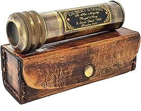 Antique Gift 2020 Handmade Antique Brass Kaleidoscope Gilbert & Sons Nautical Kids Gift with Case