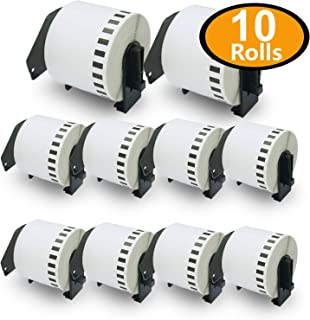 BETCKEY - 10 Rolls Compatible Brother DK-4205 Removable Continuous Labels 62mm x 30.48m(2-3/7