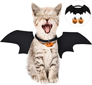 LIZHIGE Pet Costume Bat Wings, 1Pc Pet Halloween Bat Wings Disfraz, Gato Perro Cool Bat Wings Cosplay Accesorio para Hallo...