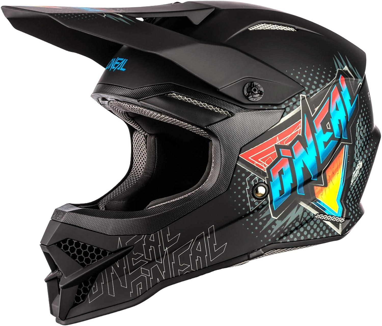 O Neal Motocross Helm Mx Enduro Motorrad Abs Schale Erfüllt Sicherheitsnorm Ece 22 05 Airflaps Kompatibel 3srs Helmet Speedmetal Erwachsene Sport Freizeit