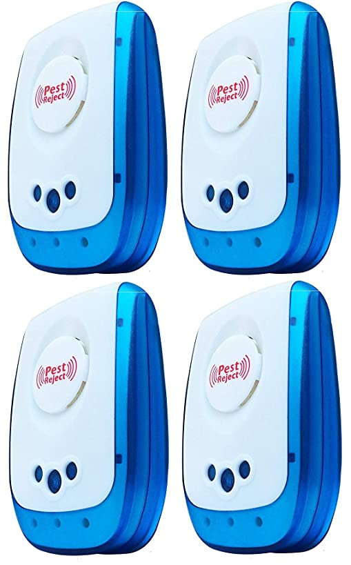 [NEW 2018 UPGRADED] Ultrasonic Pest Repeller (4-Pack) - Indoor Plug-In Repellent Ultrasound & Electronic | Insects Anti Mice Rats Rodents Bugs Ants Mosquitos Spiders Roaches - Child & Pet Safe Control